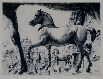 arthur heintzelman, 'Mezzo Giorno, San Marco, Venice', 1936