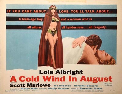 Film Poster, 'A Cold Wind in August Lobby Card', 1961