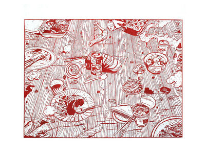 Kenichi Yokono, 'Food Party', 2014