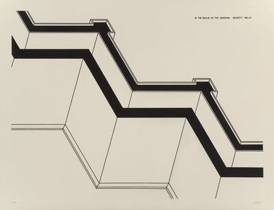 Robert Morris (b. 1931), 'Security Walls, from In The Realm of the Carceral', 1979