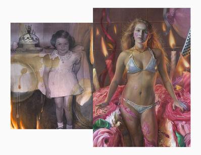 Margaret Bowland, 'Barbie Cake (Diptych)', 2019