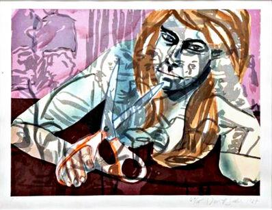 David Salle, 'Woodcut Portrait with Scissors and Nightclub', 1987