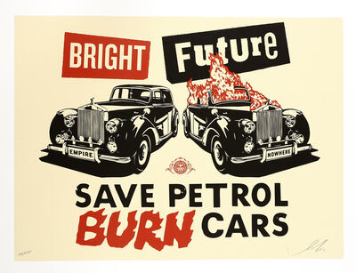Shepard Fairey, 'Bright Future (red/black/cream)', 2012