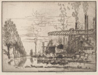 Joseph Pennell, 'The Brussels Canal, A Modern Hobbema', 1910