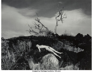 Donald Woodman, 'Nude on Prairie Hill and Sand Dunes (two photographs)', circa 1975