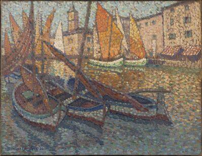 Jac Martin-Ferrieres, 'Barques dans le port', 1924