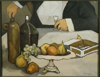 Charles H. Walther, 'Fruit and Bottles', 1930
