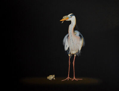 Isabelle du Toit, 'Heron and Toads', 2017