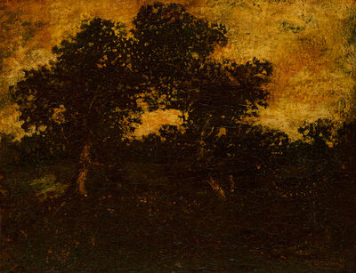 Ralph Albert Blakelock, 'Twin Trees '