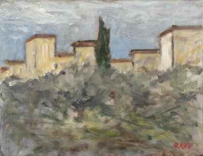 Ottone Rosai, 'Case e ulivi', 1953