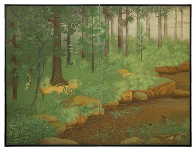 Unknown Artist, 'Oversized Two Panel Screen, Forest (T-4004)', Showa era (1912, 1926), 1930s