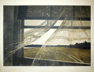 """Andrew Wyeth, 'Rare """" Wind from the sea"""" 1956 Collotype', 20th Century"""