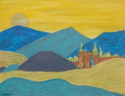 Emil Bisttram, 'Adobe Mountains', 1937