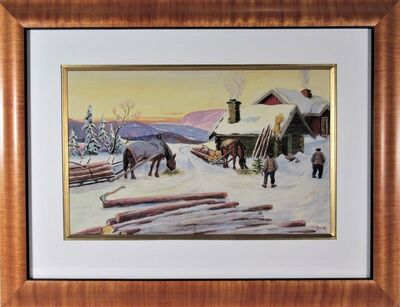 Paul Lilo Stenberg, '  Logging in Winter', ca. 1940