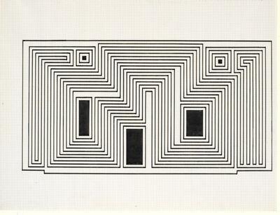 Josef Albers, 'Study for Sanctuary', 1941-1942