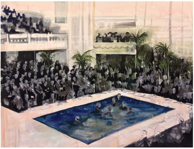 Elizabeth Schwaiger, 'Pool Crowd', 2016