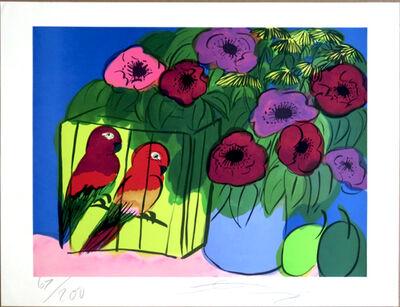 Walasse Ting 丁雄泉, 'Parrots', 1981