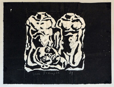 Luis Frangella, 'Untitled (Two Torsos and One Head)', 1984