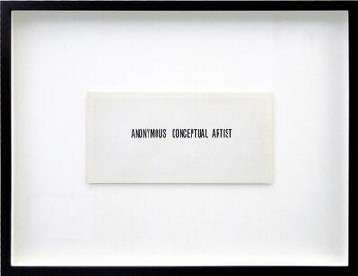 Goran Trbuljak, 'Anonymous Conceptual Artist'