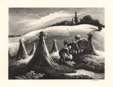 Thomas Hart Benton, 'Loading Corn.  [Shucking Corn.]', 1945
