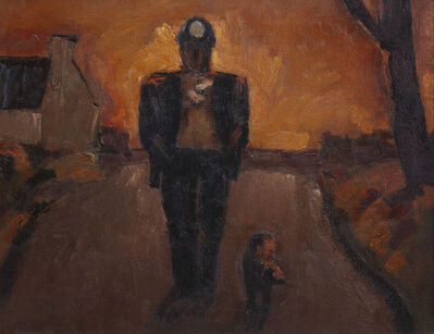 Josef Herman RA, 'Miner and Dog', 1961