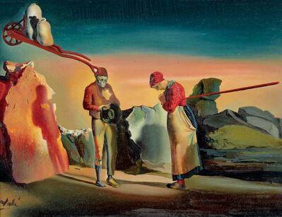 """Salvador Dalí, 'Les atavismes du crépuscule (Phénomène obsessif). D'après """"L'Angélus"""" de Millet', ca. 1933"""