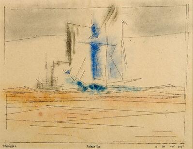 Lyonel Feininger, 'Barkentine', 1924