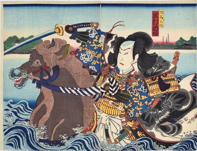 Toyohara Kunichika, 'Sawamura Tossho II as Samanosuke', 1870