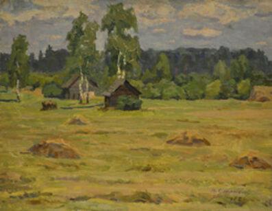 Vasily Vasilevich Strigin, 'Hay harvest', 1972