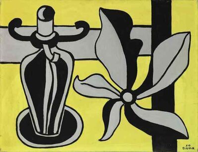 Fernand Léger, 'The candlestick with the yellow background', 1950