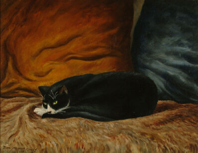 John Steuart Curry, 'Black Cat Sleeping'