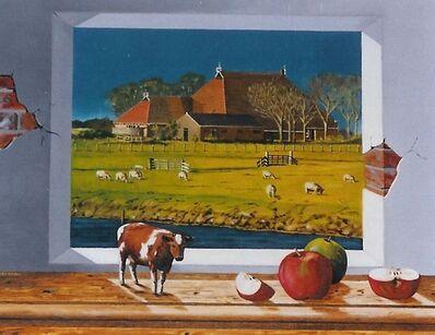 Jan van den Brink, 'Cow befor landscape'