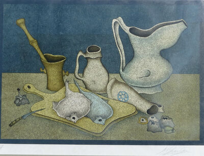 Mihail Chemiakin, 'Still Life with Fish and Knife', ca. 1980