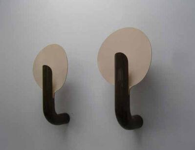 Pierre Paulin (1927-2009), 'Pair of brown wall lamps', 1972