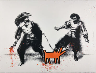 Mr. Brainwash, 'Watch Out! Orange', 2019