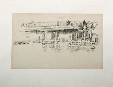 James Abbott McNeill Whistler, 'OLD BATTERSEA BRIDGE.', 1887