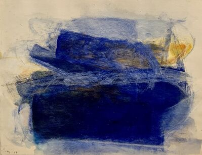 Cleve Gray, 'Reverse Drawing 1 (blue)', 1966