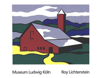 Roy Lichtenstein, 'Red Barn II (Lg)', 1989