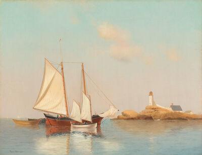 Warren Sheppard, 'A Schooner off White Island Light, Isles of Shoals, NH', 19th -20th Century