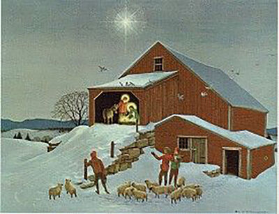Charlotte Sternberg, 'Holy Family in Barn', 1958