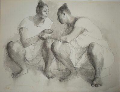 Francisco Zúñiga, 'Dos Mujeres en Cuclillas', 1969