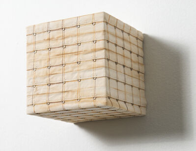 Denise Yaghmourian, 'Stained Cube w/ Double Thread Line', 2007