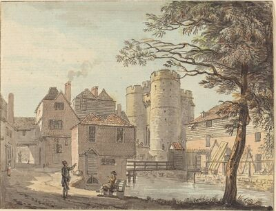 Paul Sandby, 'West Gate at Canterbury', in or after 1780