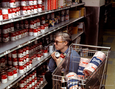 Bob Adelman, 'Andy Warhol shopping at Gristede's supermarket on Second Avenue', 1965