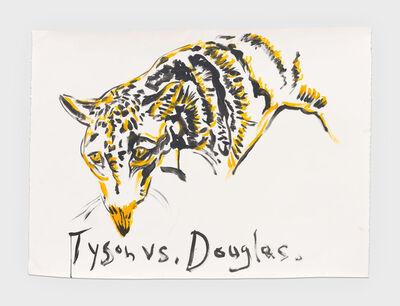 Raymond Pettibon, 'No Title (Tyson vs. Douglas.)', 2019