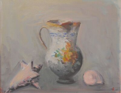 Paul Resika, 'Pitcher and Shells #3', 2015