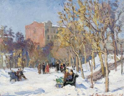 Aleksandr Ivanovich Preobrazhensky, 'Early snow', 1958