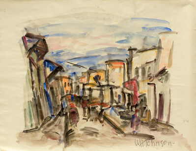 William Henry Johnson, 'Untitled (Tunisian Street Scene)', c. 1930-34