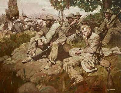 George Giguere, 'Confederate Soldiers at Rest', 20th Century