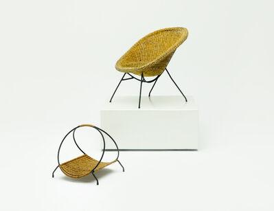 Carlo Hauner & Martin Eisler, 'Wicker Armchair', ca. 1955